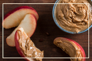 Healthy Fruit Nut Butter Yoga Snack