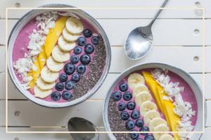 Fruit Bowl Healthy Breakfast Yoga