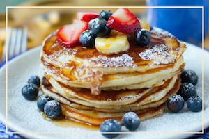 Breakfast Pancakes Yoga Healthy Vegan