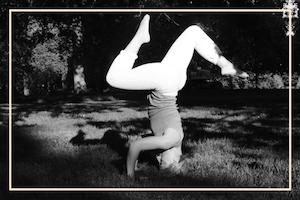 practice yoga outdoors garden park