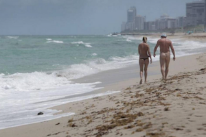 nudist beach Miami sun summer
