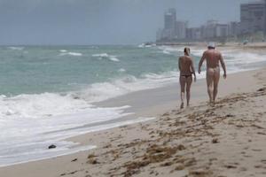 nudist beach Miami sun summer