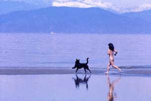 Nudist beach Vancouver Canada sun