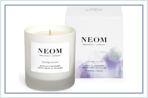 natural candle Christmas gift well-being